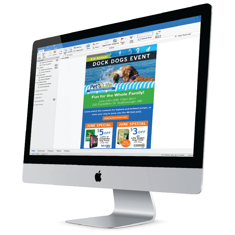 Email Marketing campaign add-on for direct mail marketing plan