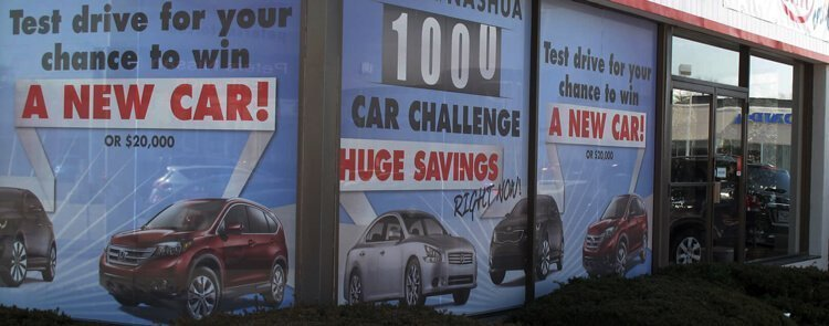Window graphics for promotional marketing and sale signage