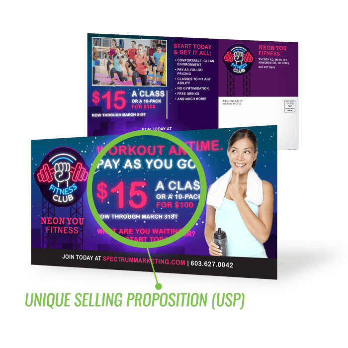 Unique Selling Proposition - Fitness Mailer
