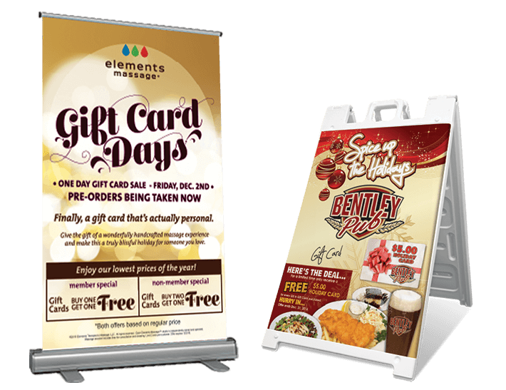 Holiday Signs and Banners for Direct Mail