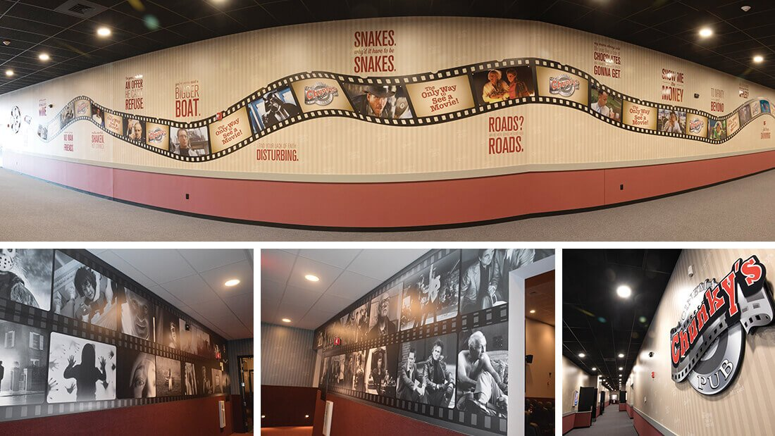 Chunky's Cinema Pubs Manchester Large Format Printing Signage