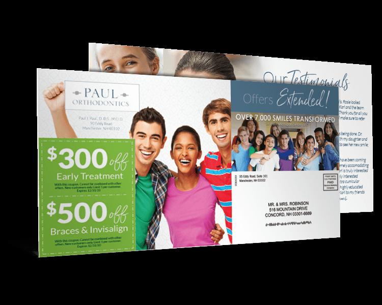 Orthodontist direct mail marketing piece