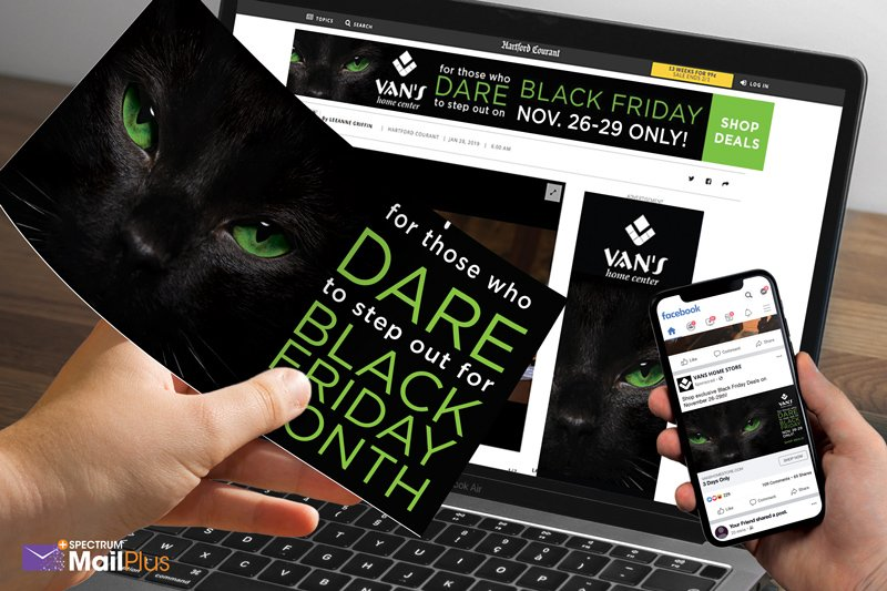 Black Friday Direct Mail to Digital Marketing Campaign